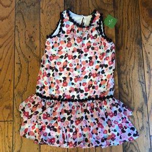 kate spade floral girls dress size 7 NWT